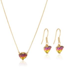 Komplet biżuterii serduszka Xuping PK558