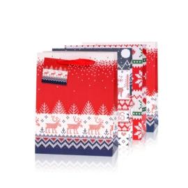 Torebki prezentowe świąteczne 23x18cm 12szt TP570