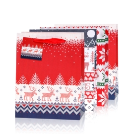 Torebki prezentowe świąteczne 32x25cm 12szt TP571