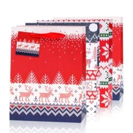 Torebki prezentowe świąteczne 42x31cm 12szt TP572