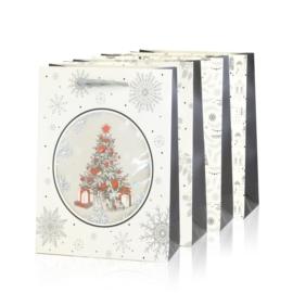 Torebki prezentowe świąteczne 32x26cm 12szt TP581