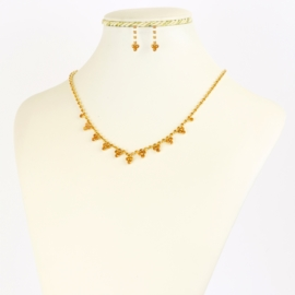Komplet biżuterii dżetowej - KOM376