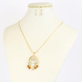 Komplet biżuterii z kryształkami - KOM387