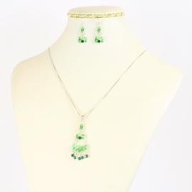 Komplet biżuterii z kryształkami - KOM388