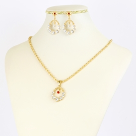 Komplet biżuterii z kryształkami - KOM389