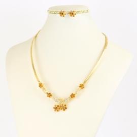 Komplet biżuterii z kryształkami - KOM390