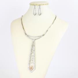 Komplet biżuterii z krawatką - KOM392