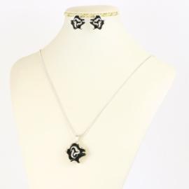 Komplet biżuterii róże - KOM393