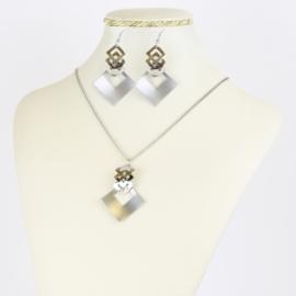 Komplet biżuterii geometric - KOM394