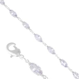 Bransoletka czeskie kryształy BCZ-7 BRA3329