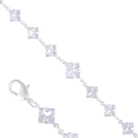 Bransoletka czeskie kryształy BCZ-8 BRA3330
