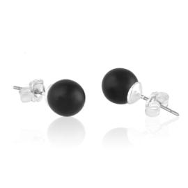 Kolczyki czeskie perły matowe 0,8cm EA3728