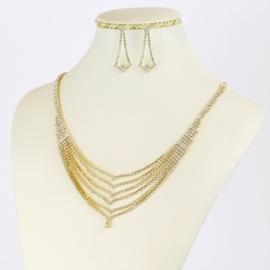 Komplet biżuterii dżetowej - KOM405