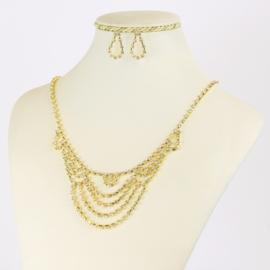 Komplet biżuterii dżetowej - KOM406