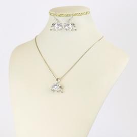 Komplet biżuterii - słonie - KOM415