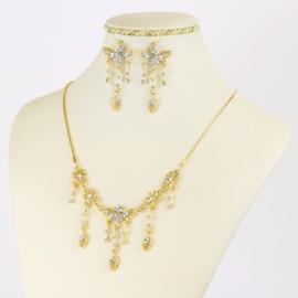 Komplet biżuterii z kryształkami - KOM422