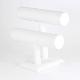 Ekspozytor podwójny wałek biały 21cm EKS122