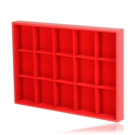 Ekspozytor tacka z okienkami 5x3 czerwona EKS127