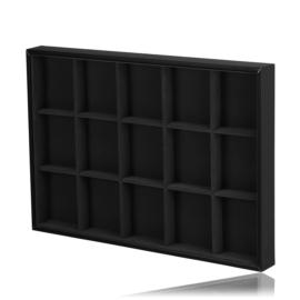 Ekspozytor tacka z okienkami 5x3 czarna EKS130
