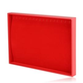 Ekspozytor tacka na bransoletki 17 czerwona EKS135