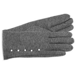 Rękawiczki damskie szare z perełkami RK587