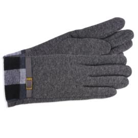 Rękawiczki damskie szare z kratą RK593
