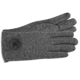 Rękawiczki damskie c.szare z puszkiem RK596