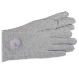Rękawiczki damskie j.szare z puszkiem RK597