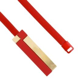 Pasek damski sprężynka czerwień BL224