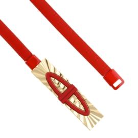 Pasek damski sprężynka czerwony BL226