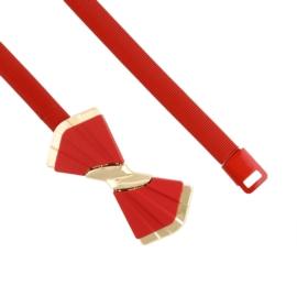 Pasek damski sprężynka czerwony BL231