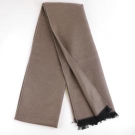 Szalik męski elegancki brązowy 180x30cm WO1235