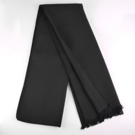 Szalik męski elegancki czarny 180x30cm WO1237