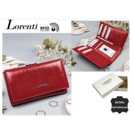Portfel damski skórzany 55020-BPR Red- P1352