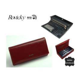 Portfel damski skórzany 8802-BPR Red- P1362