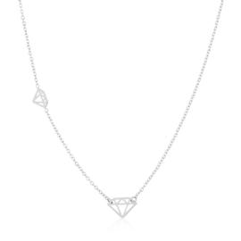 Celebrytka stal z diamentami Blueberry CP5288