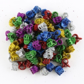 Żabki brokatowe mix kolorów 1,4cm 100szt ZW101