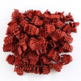 Żabki brokatowe czerwone 2cm 100szt ZW102