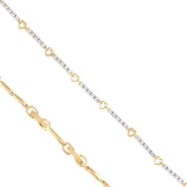 Bransoletka codzienna z kryształkami Xuping BP7898