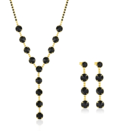 Komplet biżuterii czeskiej wieczorowej - KOM424