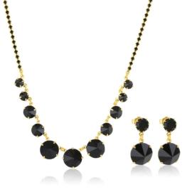 Komplet biżuterii czeskiej wieczorowej - KOM425