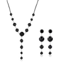 Komplet biżuterii czeskiej wieczorowej - KOM426