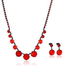Komplet biżuterii czeskiej wieczorowej - KOM428