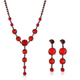Komplet biżuterii czeskiej wieczorowej - KOM429