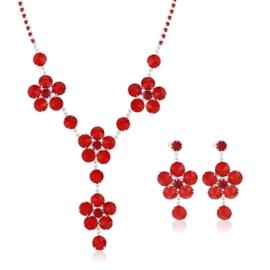 Komplet biżuterii czeskiej wieczorowej - KOM431
