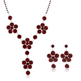 Komplet biżuterii czeskiej wieczorowej - KOM432