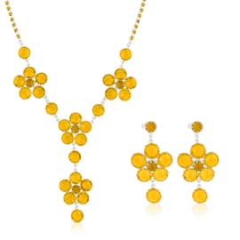 Komplet biżuterii czeskiej wieczorowej - KOM433