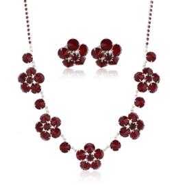 Komplet biżuterii czeskiej wieczorowej - KOM434