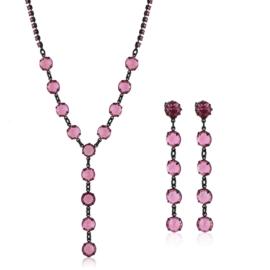 Komplet biżuterii czeskiej wieczorowej - KOM435