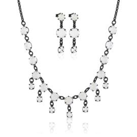 Komplet biżuterii czeskiej wieczorowej - KOM439